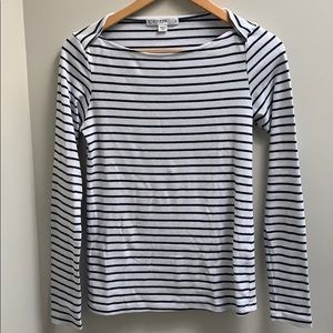Striped boat neck tee from Anthropologie